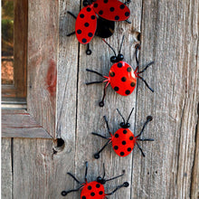 Metal Ladybug: Ladybugs Exterior And Interior Decor! Small Ladybug Metal Wall Art For Fences, Walls. Novelty Gifts + Garden Décor/Yard Art