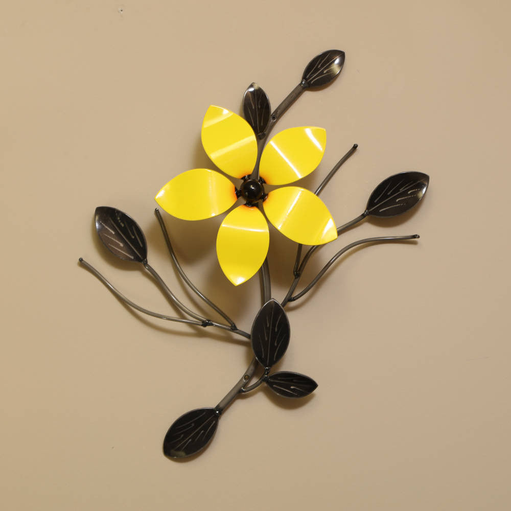 Decorative Metal Flower Vine: Wall Art Flowers Exterior-Interior ...