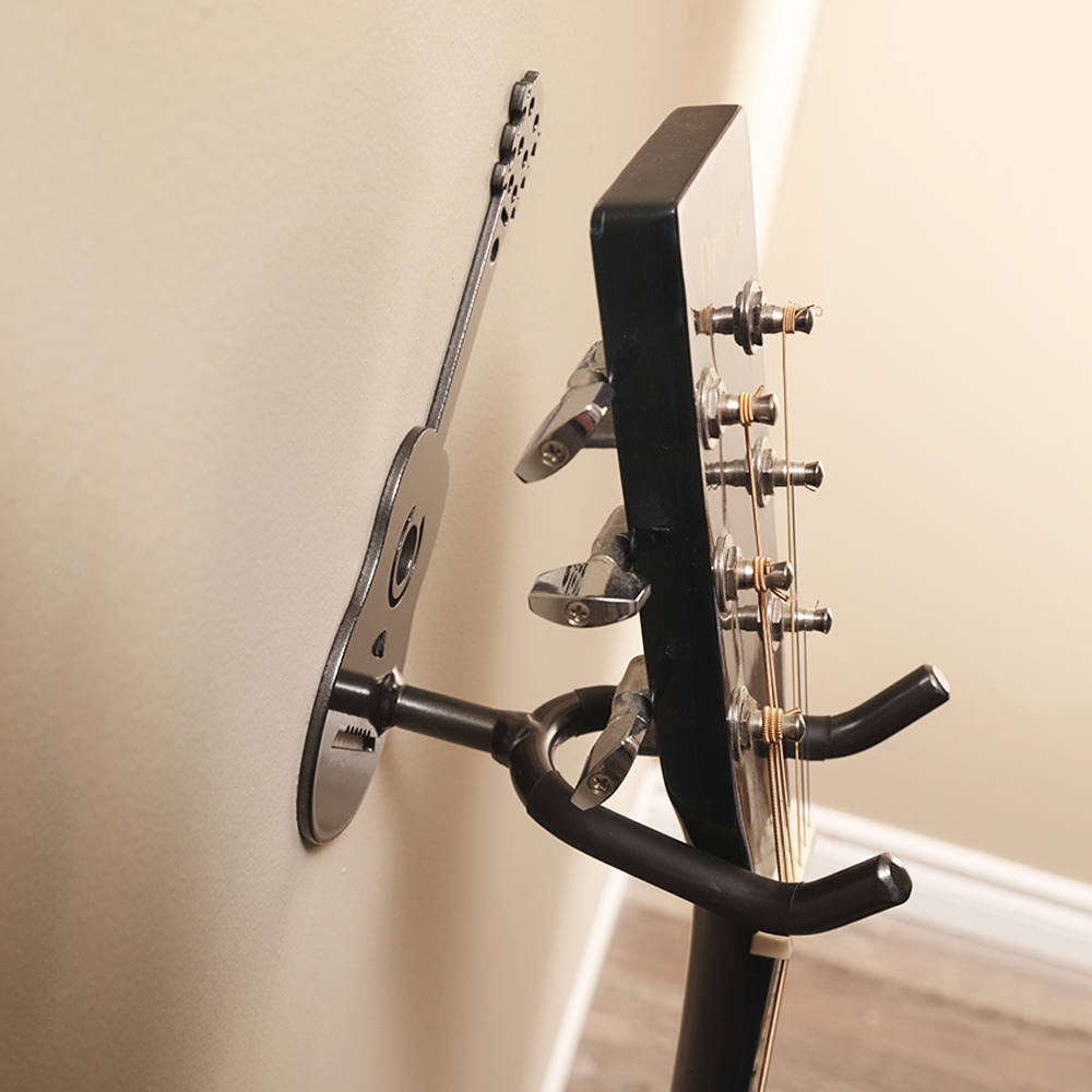 Guitar Holder: Wall Mounted Metal Art Guitar Holders