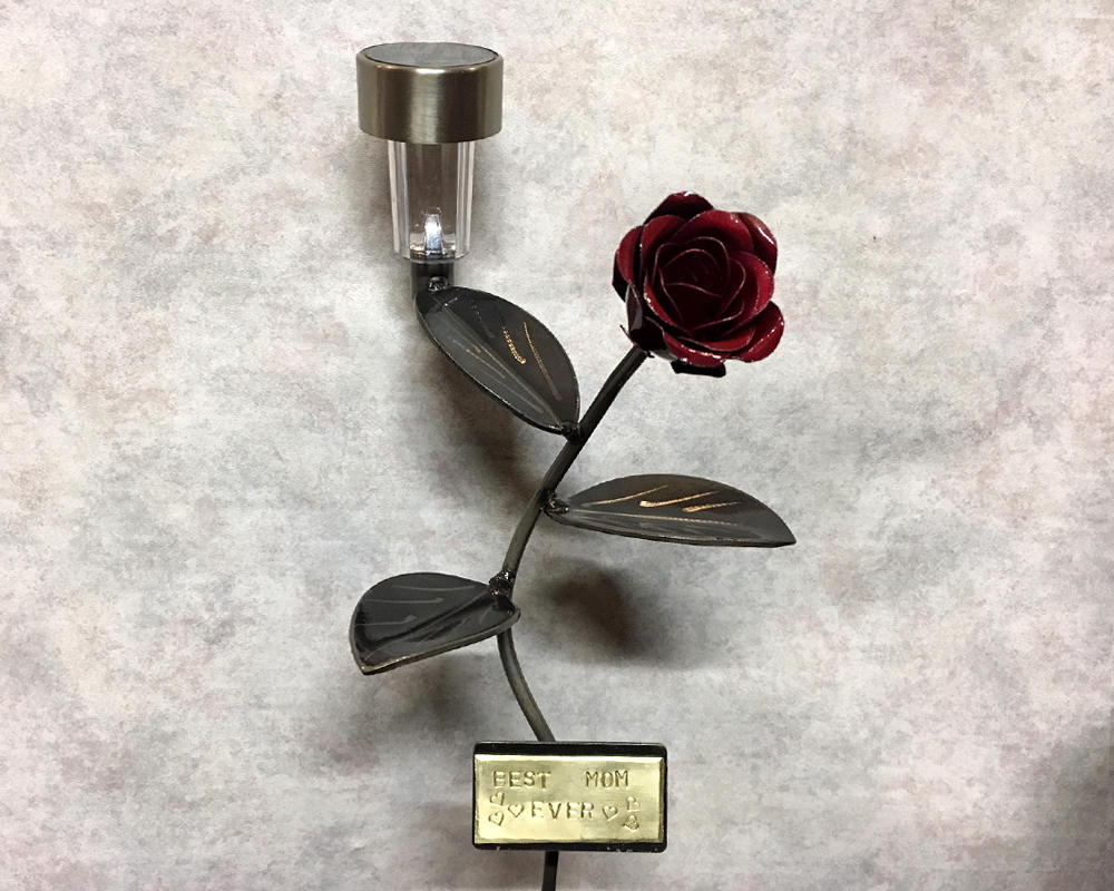 Valentine's Rose Solar Light - Custom Personalized Engraved