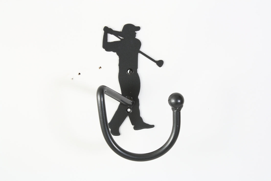 Golf Bag Holder With Golfer Golfing Metal Wall Art For Golfers Gift, Birthday Gift & Special Occasion Holiday Gifts Made By Practical Art!!!