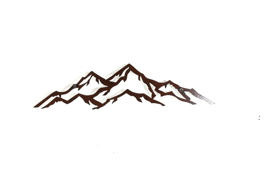 Wall Art - Small Metal Mountain Landscape.  Perfect for any home or office.  Great gift for anyone who loves the outdoors.