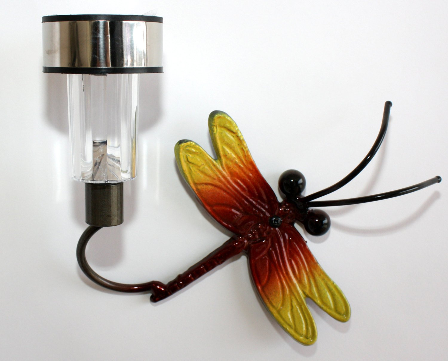 Small Dragonfly Garden Solar Light Wall and Fencing Yard Metal Art | Practical Art