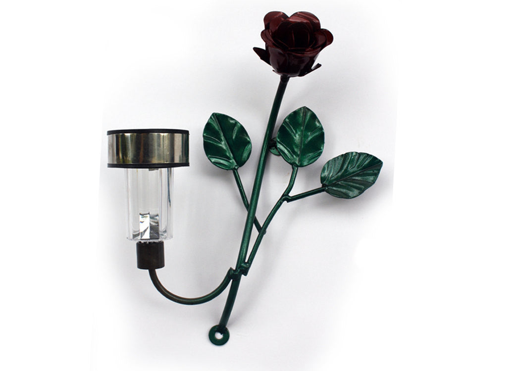 Rose Solar Light: Metal Art Roses With Solar-powered LED Mini-lights