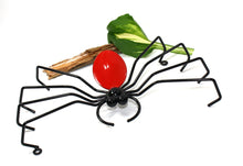 Decorative Spider Home Decor Metal Yard Art Garden Decoration! Birthday Gifts = Large Red Metal Spiders aka Arachnids Made By Practical Art!