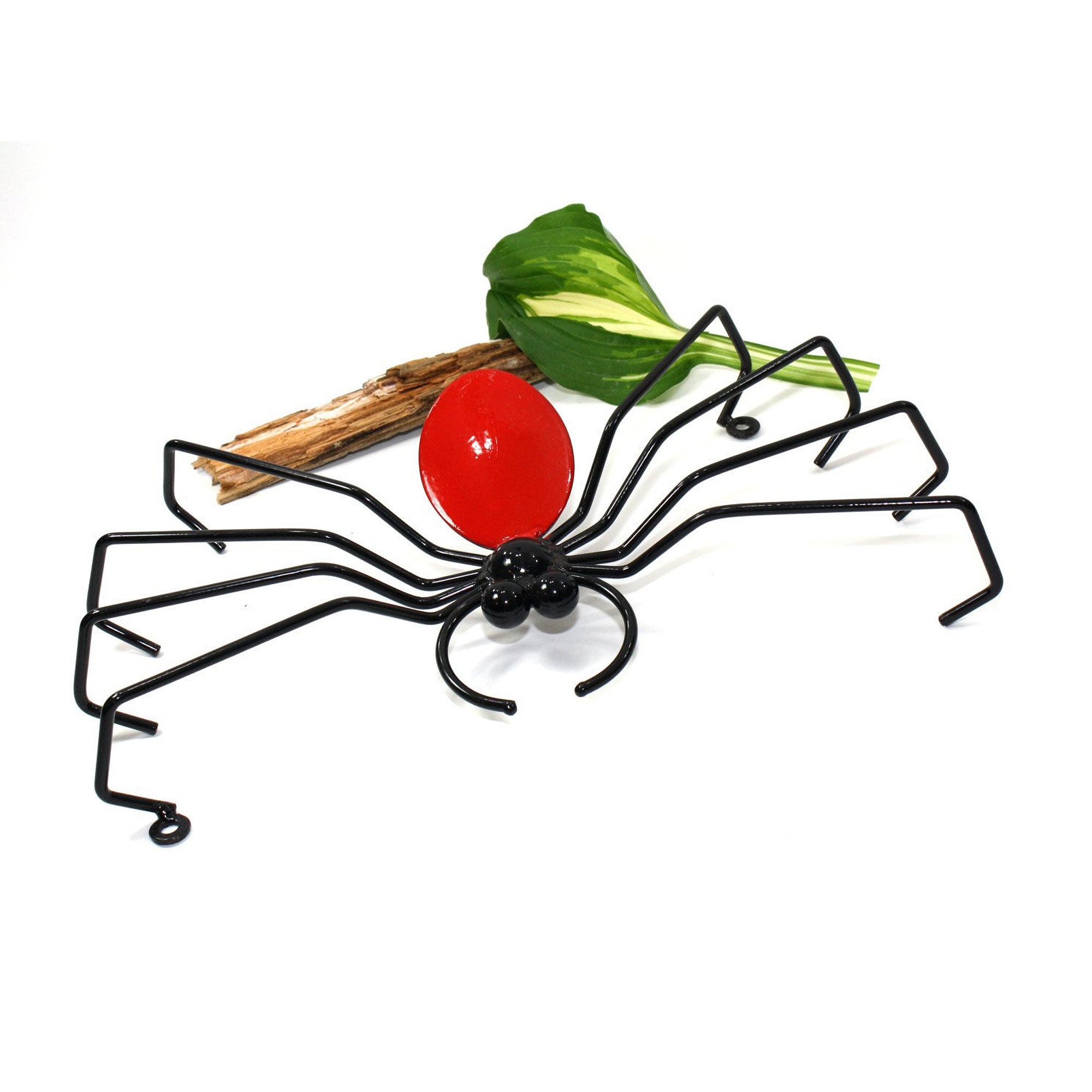 Wall-mounted Metal Art Red Decorative Spider Outdoor Halloween Decorations