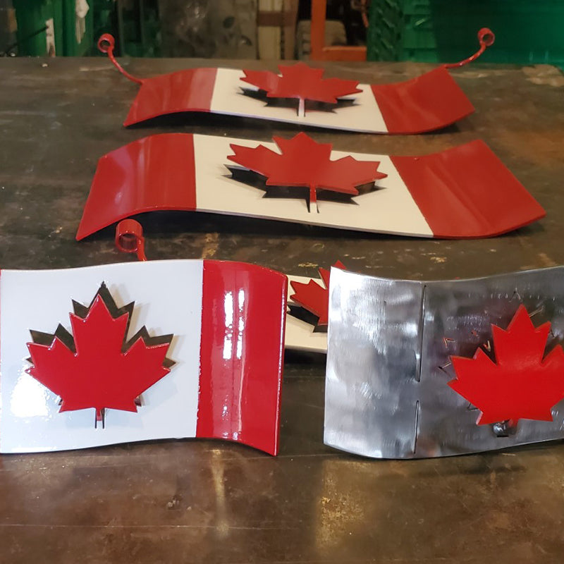 Metal Canadian Flag