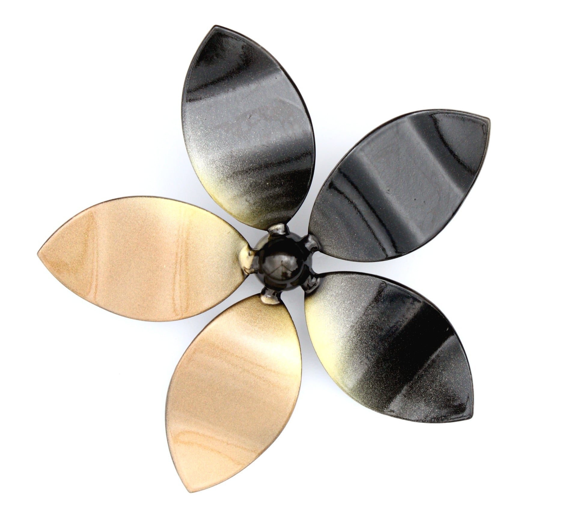 Wall Mounted Metal Art Flower With Solar LED Light: Set of Two