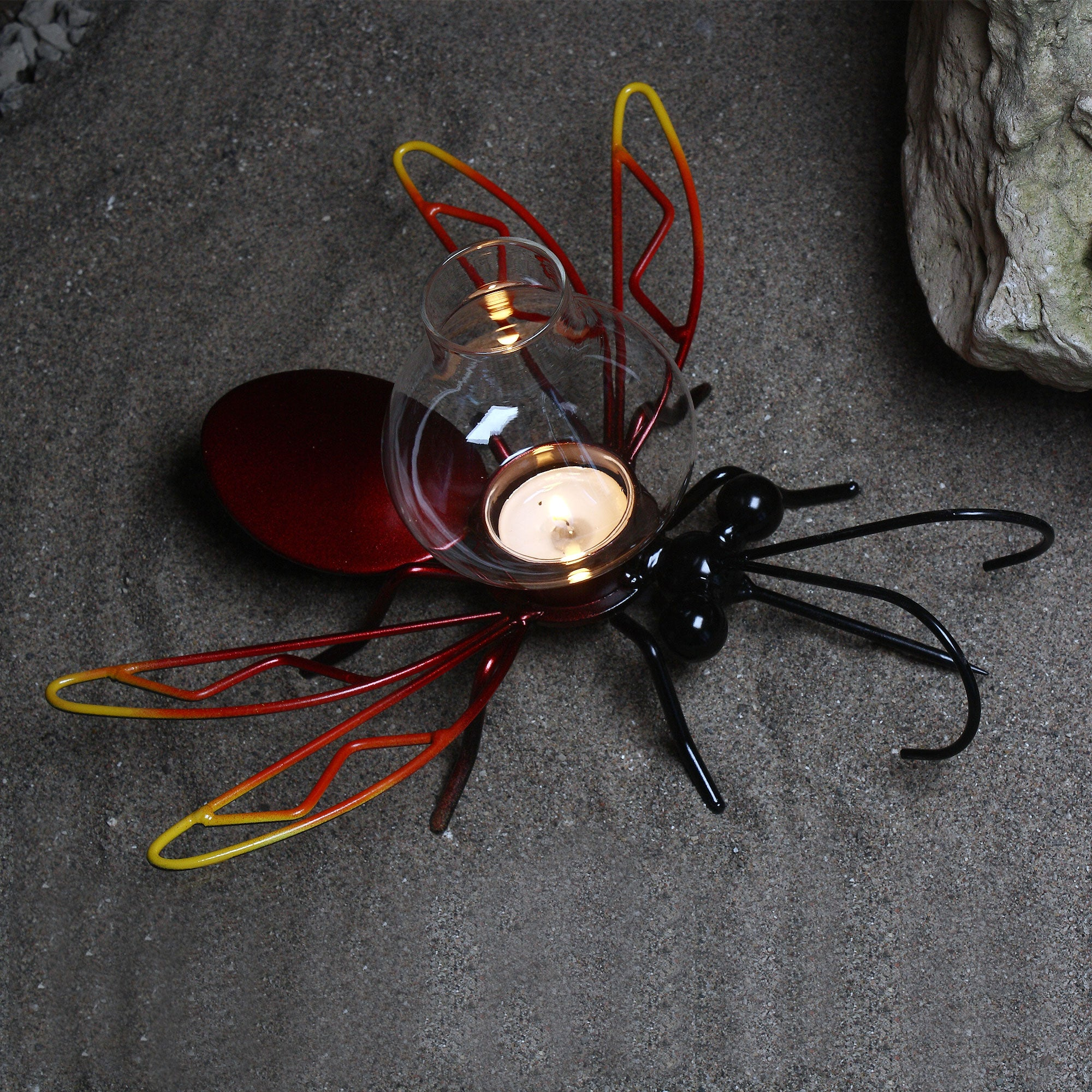 Mosquito Eliminator! Metal Art Mosquito Candle holder Garden Decoration Yard Art