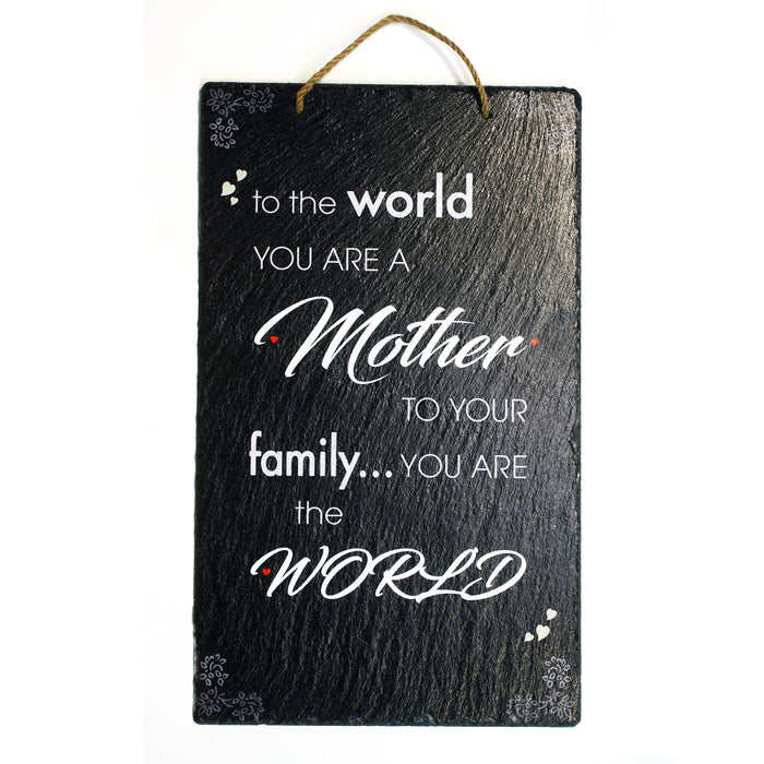 To The World You Are A Mother, But To Your Family, You Are The World: Home Decor Mother Day Gift,  Wall Decor from Practical Art