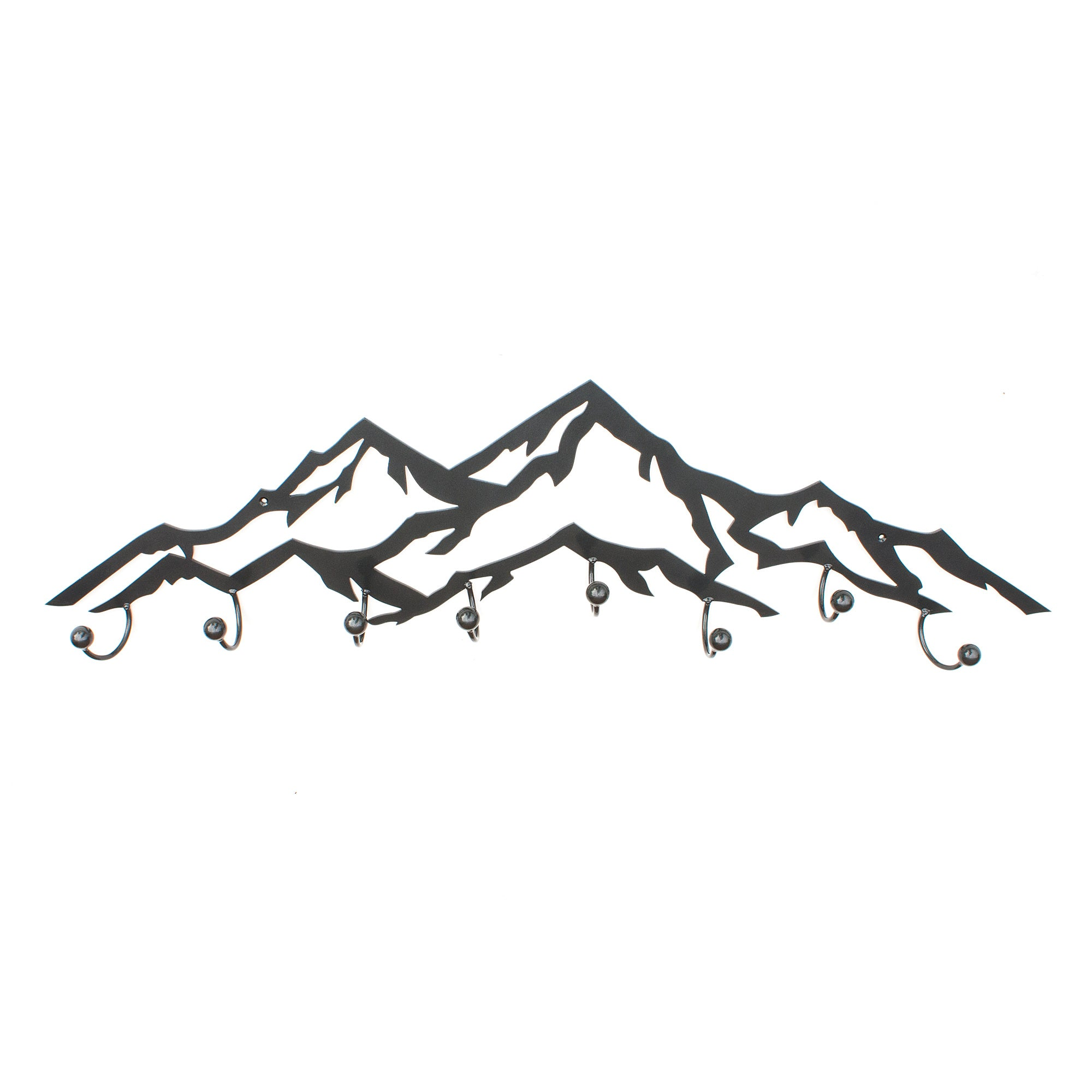Metal Wall Art - Metal Mountains with hooks, Great for Coats and Towels, Great Housewarming or Birthday Gift