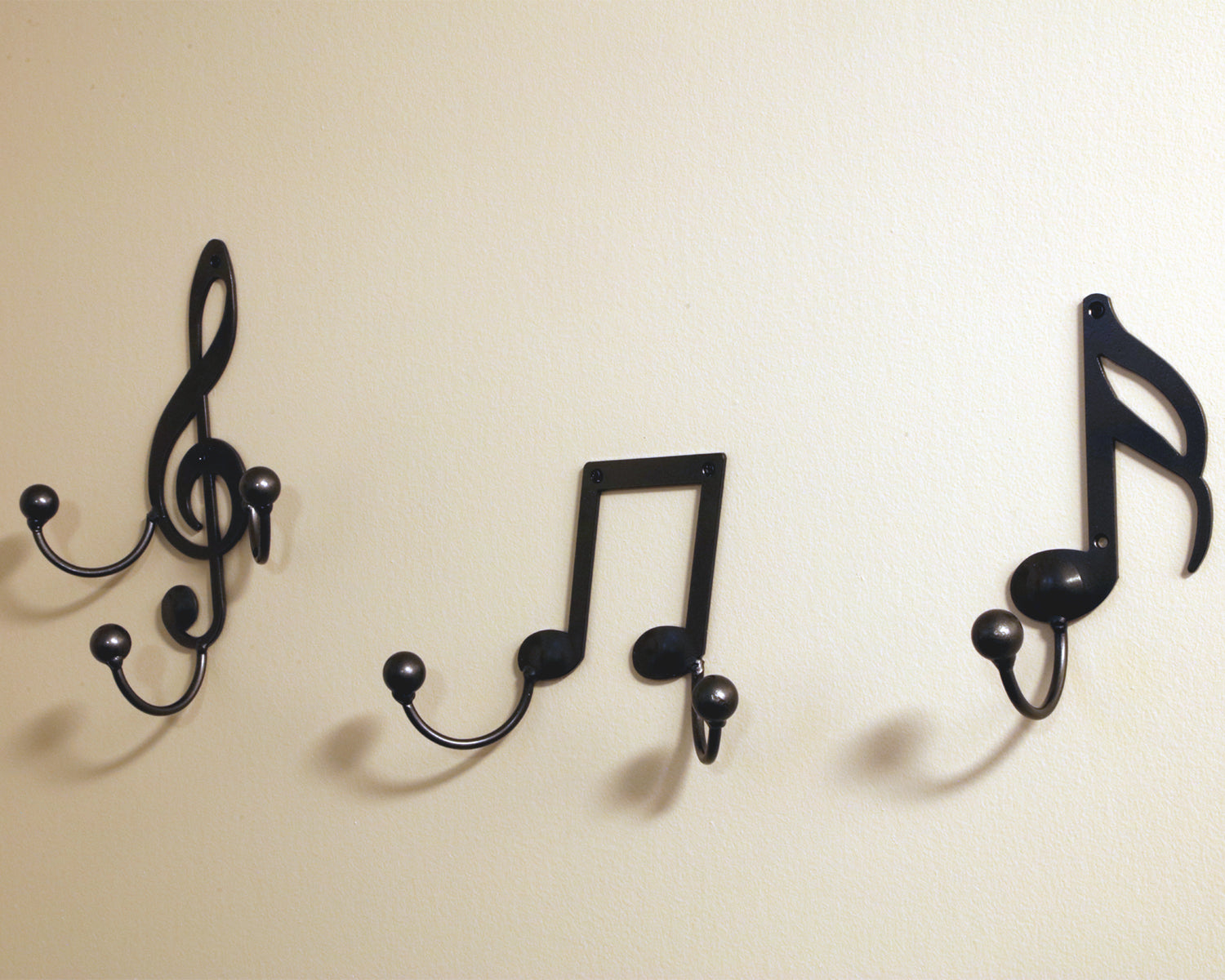 Treble Clef Hook Music Note Metal Wall Art Hanger: Musical Notes