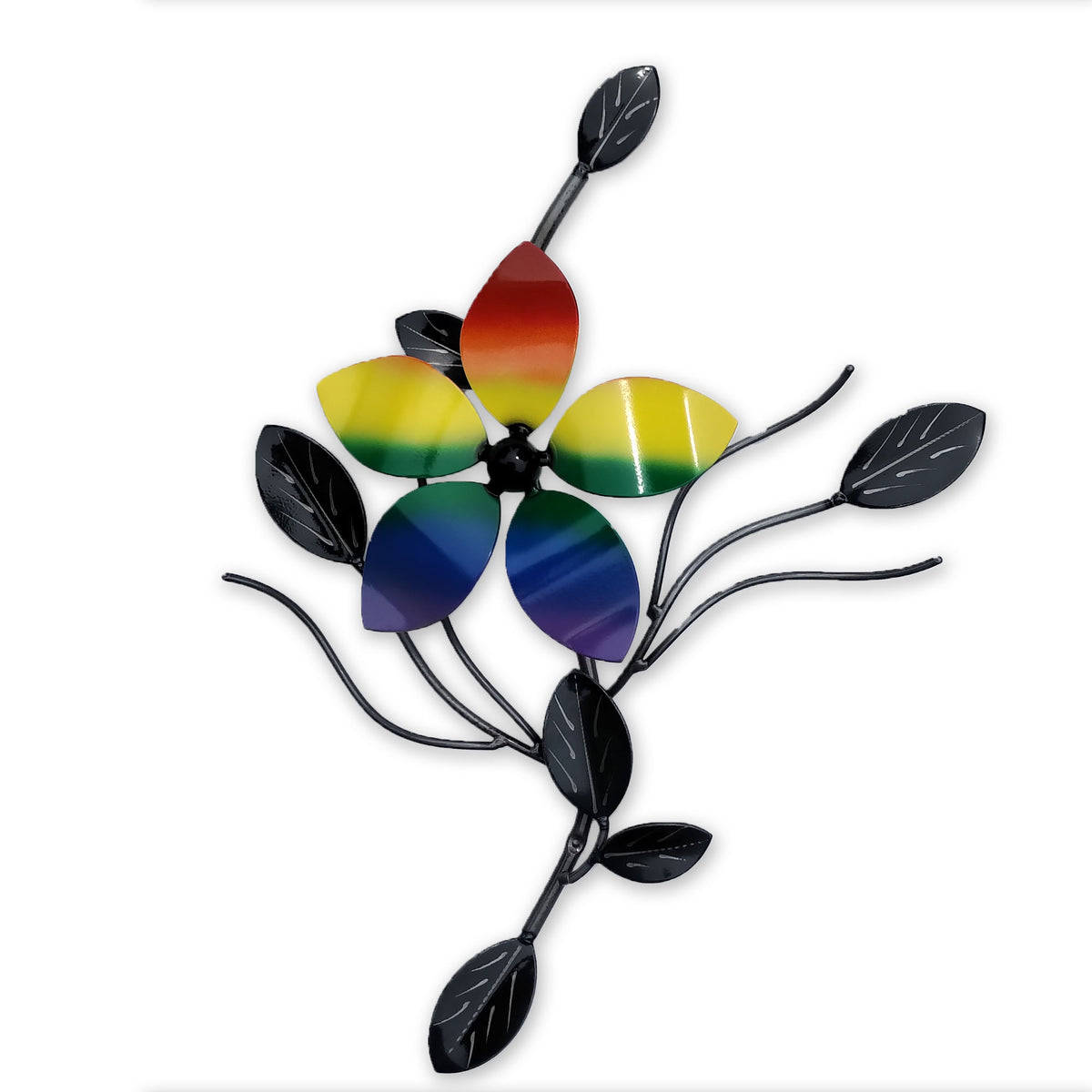 Pride Flower Metal Vine Decor