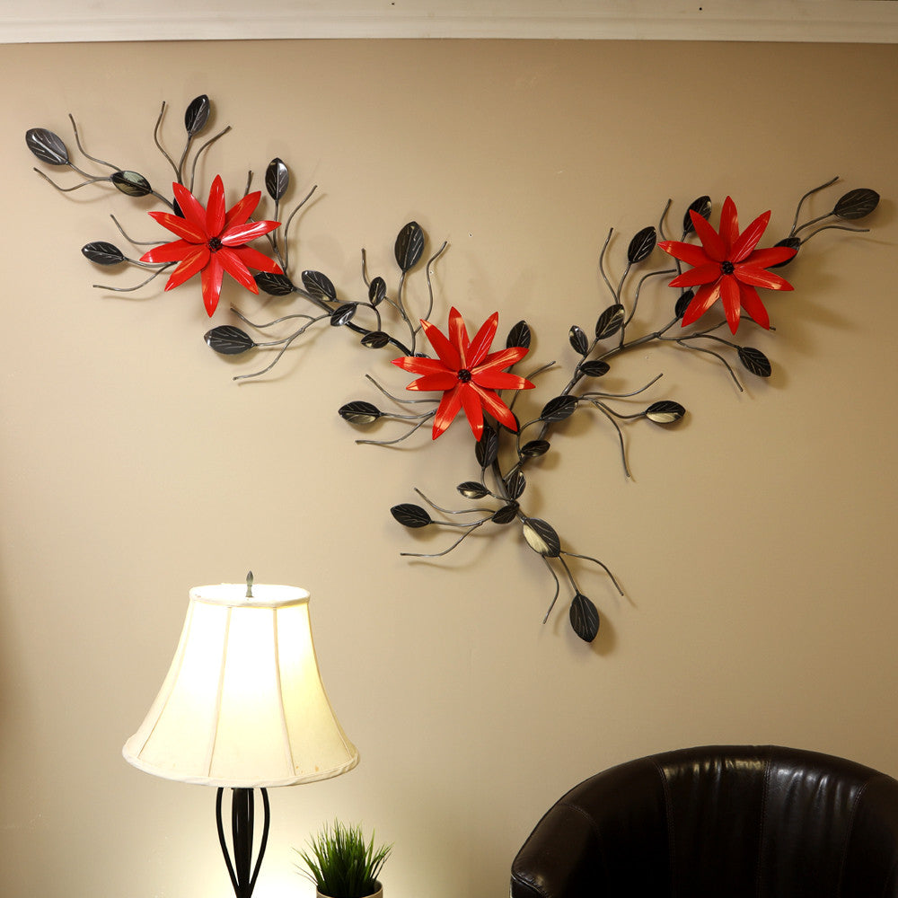 Flower Vine With Poinsettia Vines With Poinsettias Metal