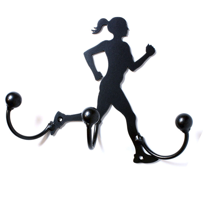 Runner Award Hook (Female) Medal Display: Wall-mounted Metal Art With Hooks Award