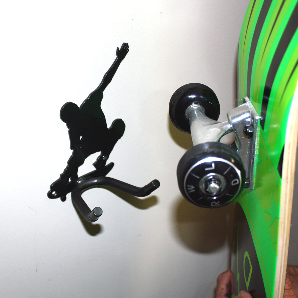 Skateboarder Skateboarding With Hanger Hook For Skateboard. Housewarming, Wedding Gift, Birthday Gifts Made By Practical Art