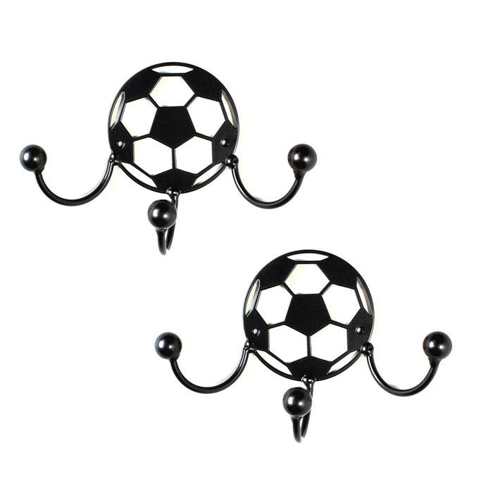 Soccer Award Hook Medal Display: Set Of 2 Wall-mounted Metal Art Awards With Hooks