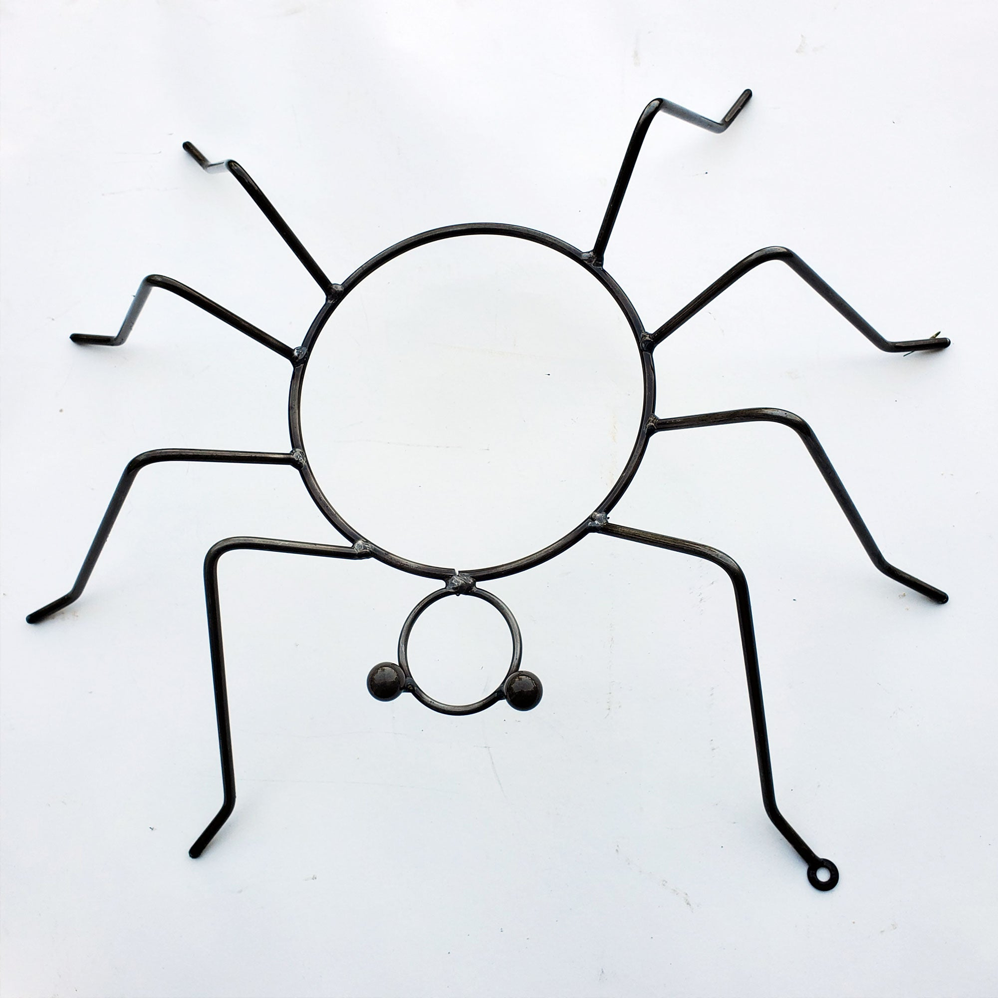 Large Metal Spider Pumpkin Holder Metal Art for Halloween Decoration