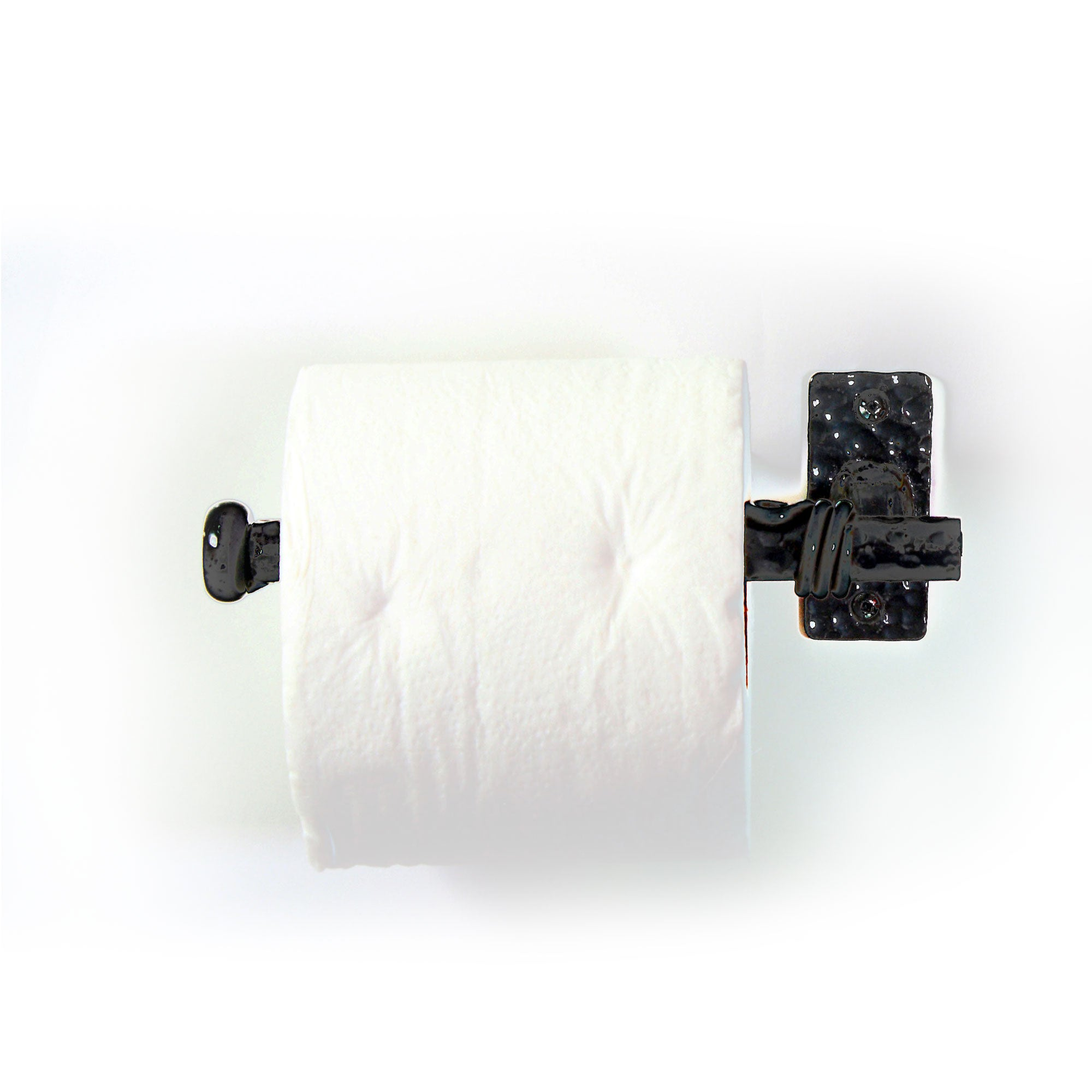 Toilet Tissue Paper Roll Wall Mounted Metal Art Stand: Bathroom Decor