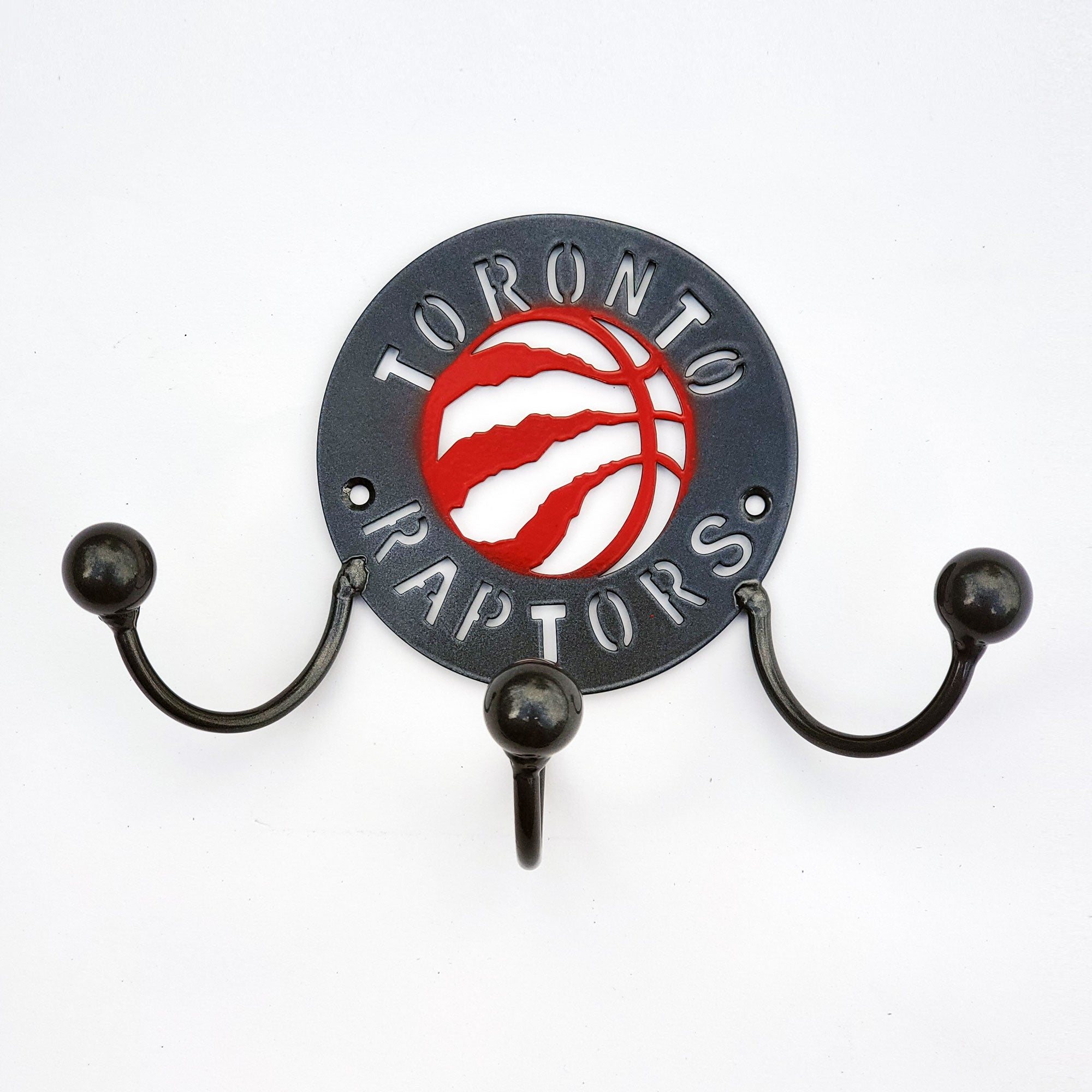 Metal Wall Art Award Displays Hangers for Toronto Raptors Fans with Colored Basketball Home Decor