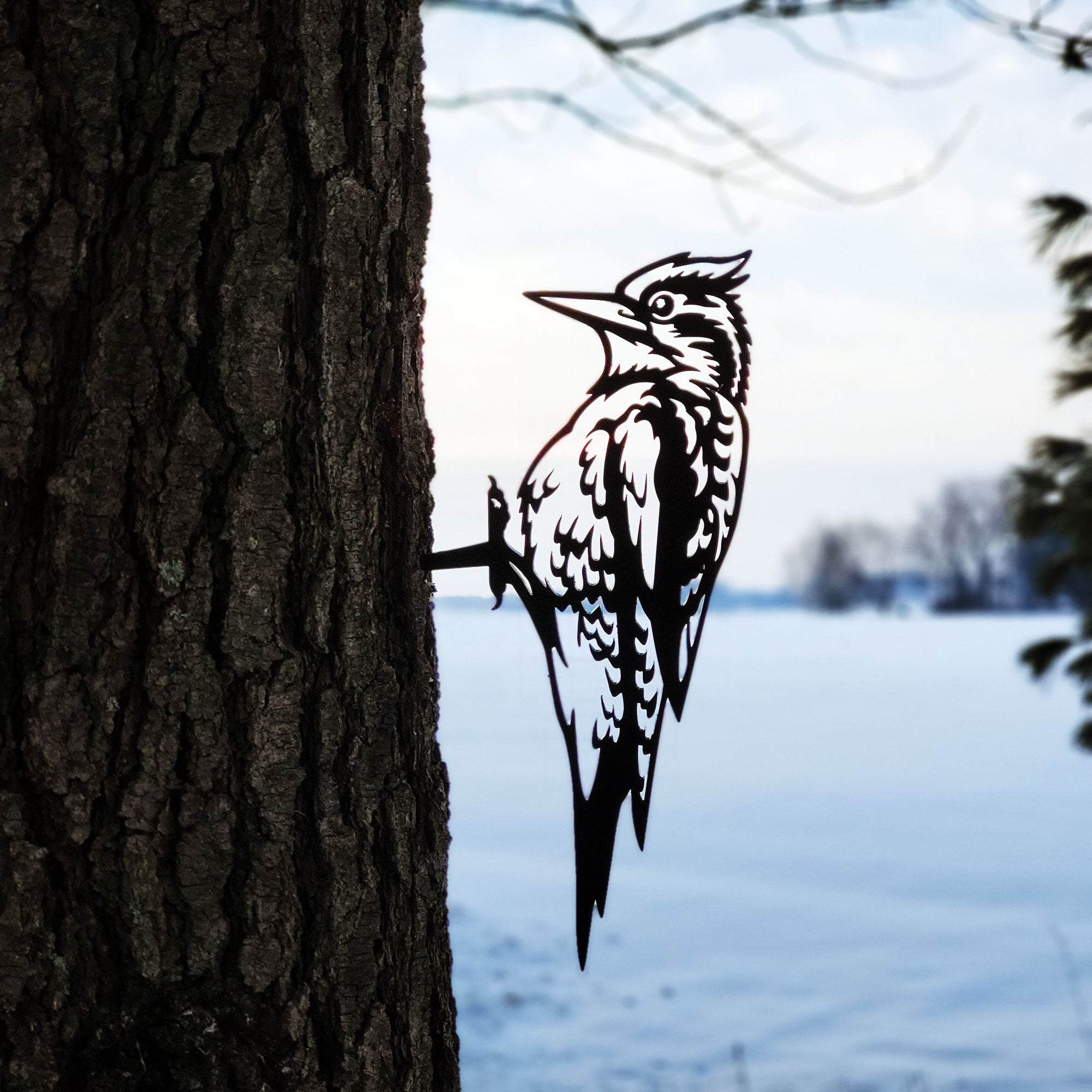 Woodpeckers Metal Bird Outdoor Décor | Practical Art