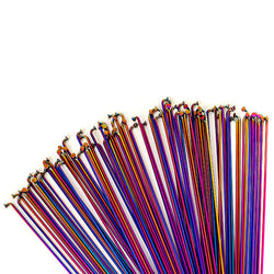 Total BMX Double Butted Spokes (Pack Of 40) - Rainbow