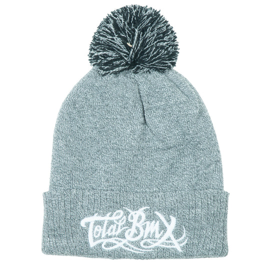 Total BMX Bobble Beanie - Grey