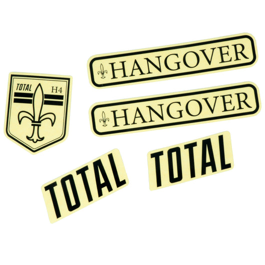 Total BMX Hangover H4 Frame Stickers - Black