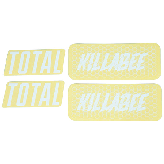 Total BMX Killabee K4 Frame Stickers - White