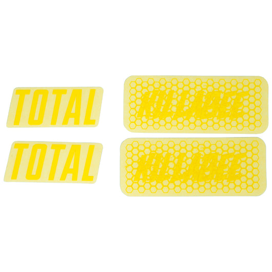Total BMX Killabee K4 Frame Stickers - Yellow