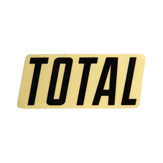 Total BMX New Style Logo Sticker - Black