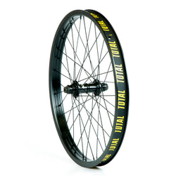 Total BMX Techfire Front Wheel - Black Hub With Black Rim 10mm