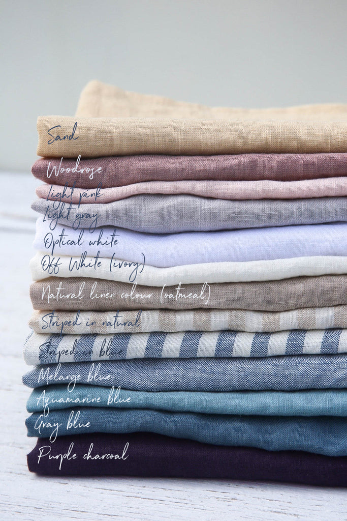 Stonewashed Linen Tea Towel in Various Colors