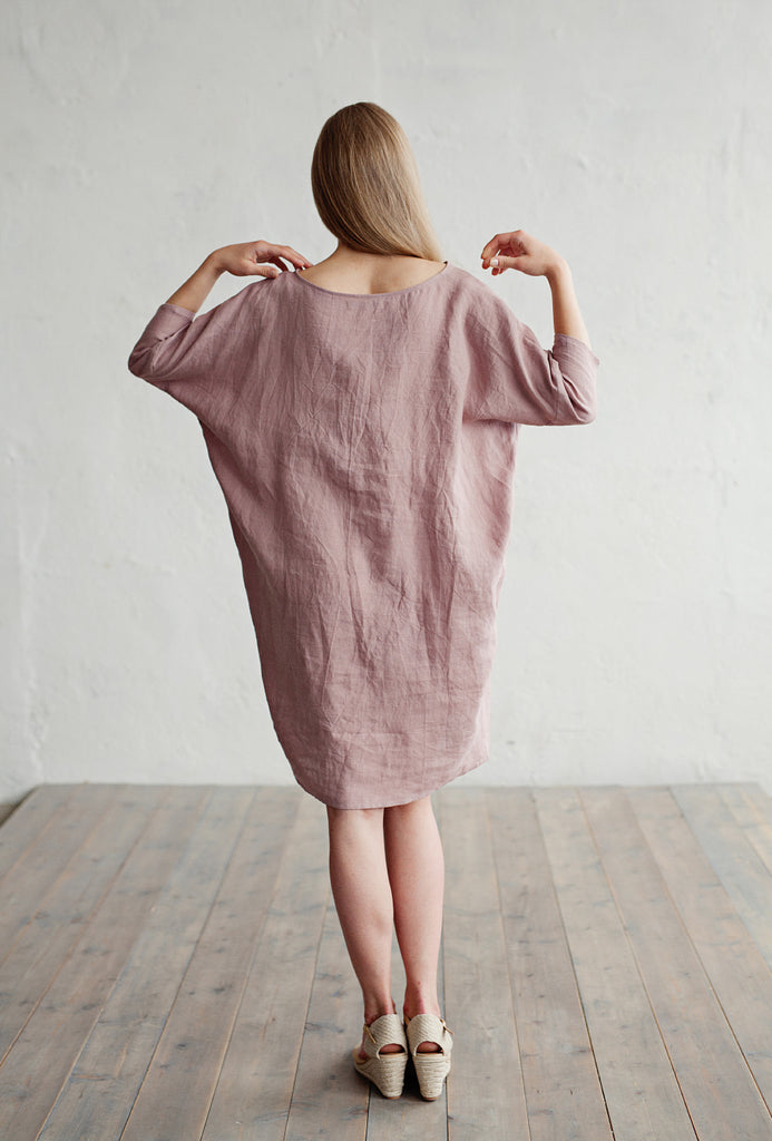 Loose fitted linen dress