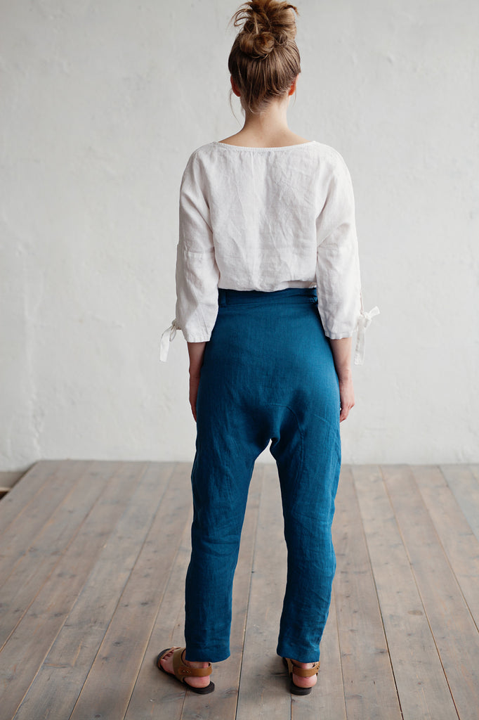 Softened natural flax pants
