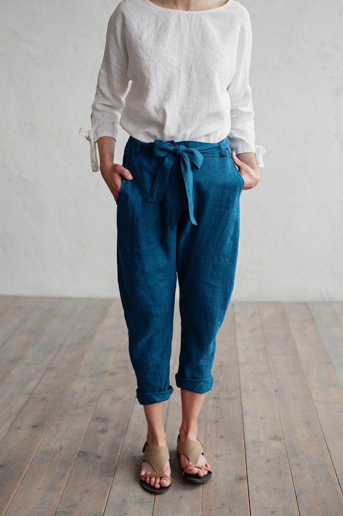 Soft pure linen trousers