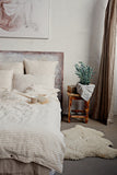 Stonewashed linen bedding set in earth colors