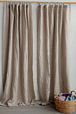 Linen Curtain Panel In Two Colours