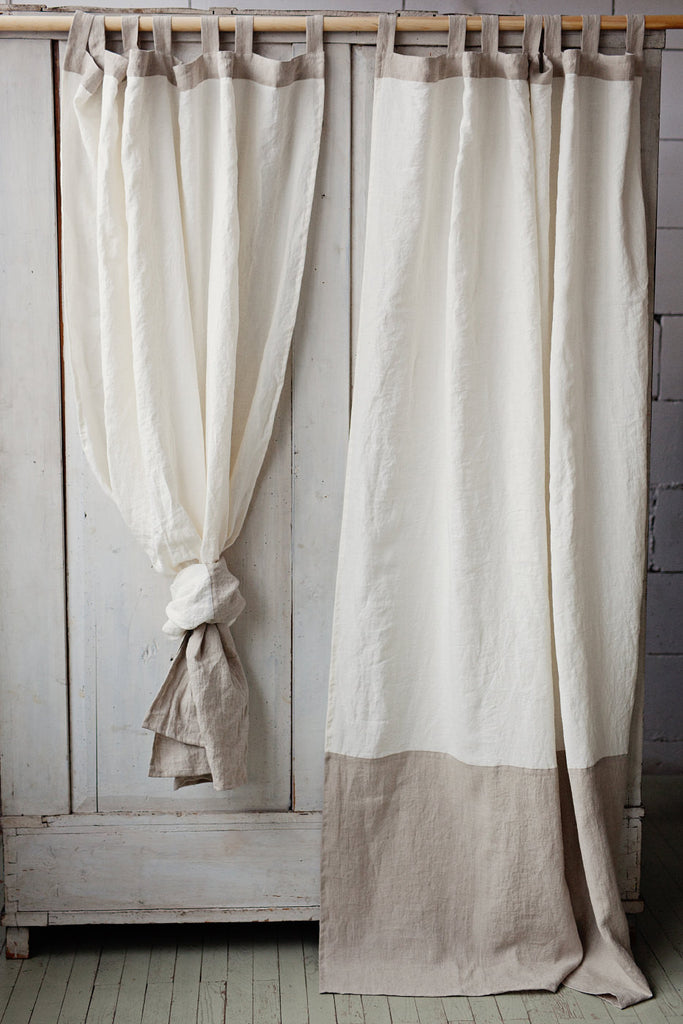 curtain gaudon furniture white natural pleated gaudion ecru curtains products linen