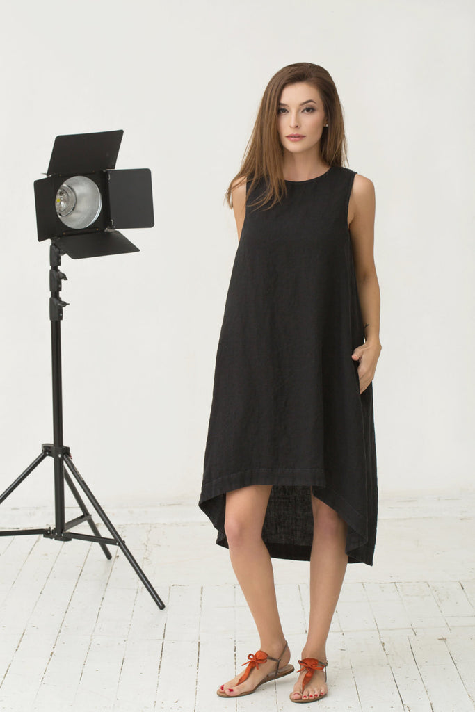linen womens clothing online flax black dresses
