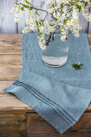 Pleated Linen Table Runner In Various Colors
