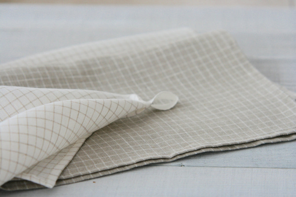 Pure linen kitchen water absorbent towels set of 3