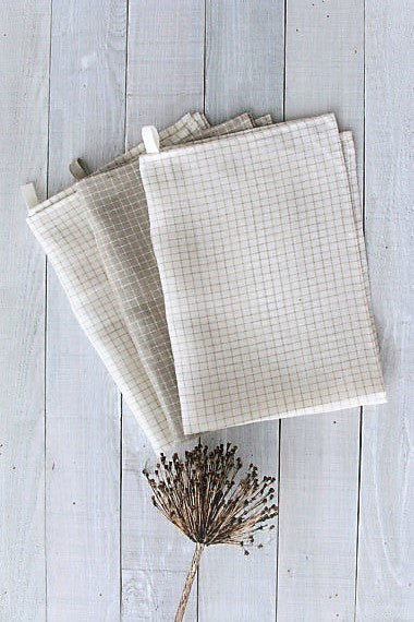Set of 3 linen kitchen towels