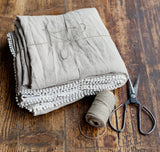 Washable linen dining taupe tablecloth