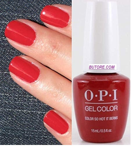 OPI GEL COLOR IS HOT IT BERNS