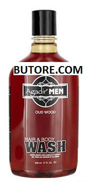 Agadir MEN Hair & Body Wash 17 oz