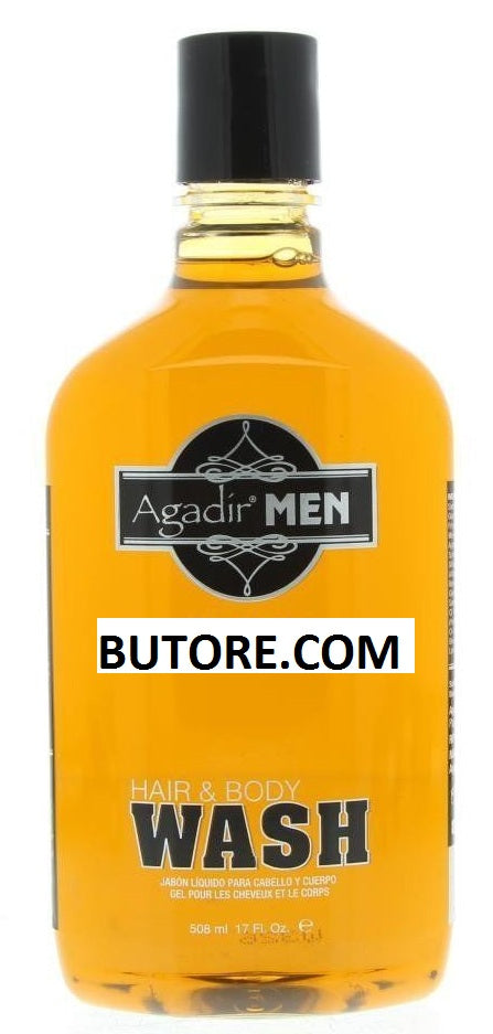 Agadir Men Hair And Body Wash, 17 Ounce