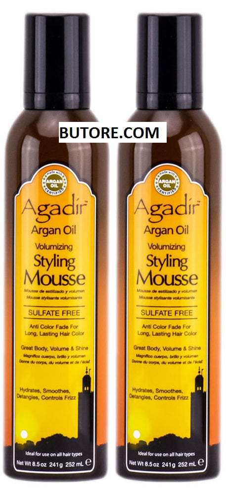 Argan Oil Volumizing Styling Mousse 8.5 oz (Pack of 2)