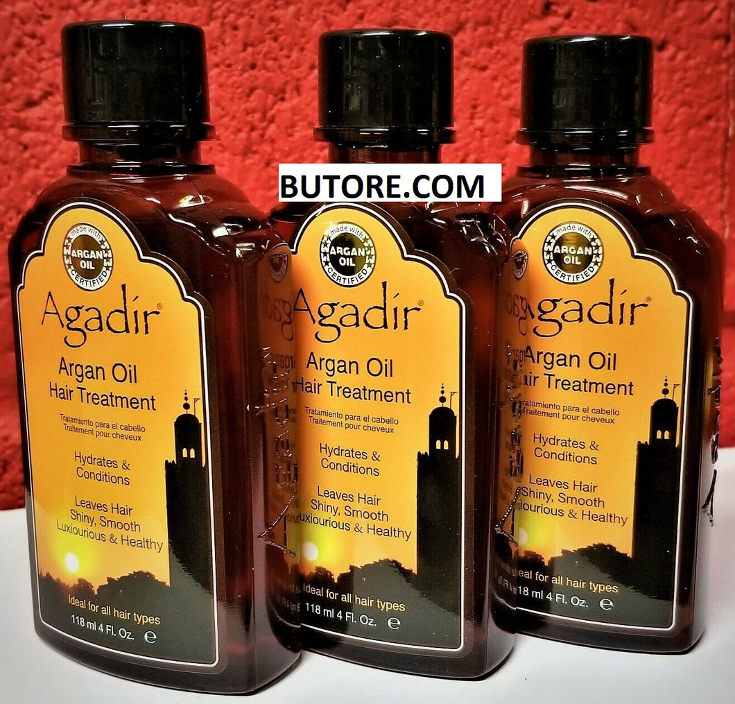 Argan Oil Hair Treatment for All Hair Types, 4 oz (118mL) 3 BOTTLES