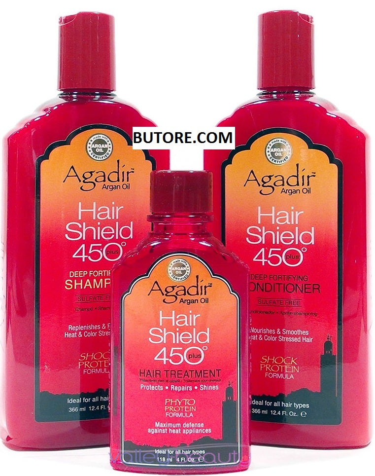 ARGAN OIL Hair Shield 450 Plus Shampoo + Conditioner + Oil Treatment